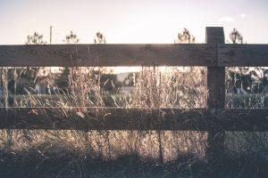 Wooden ranch fence in Huntsville